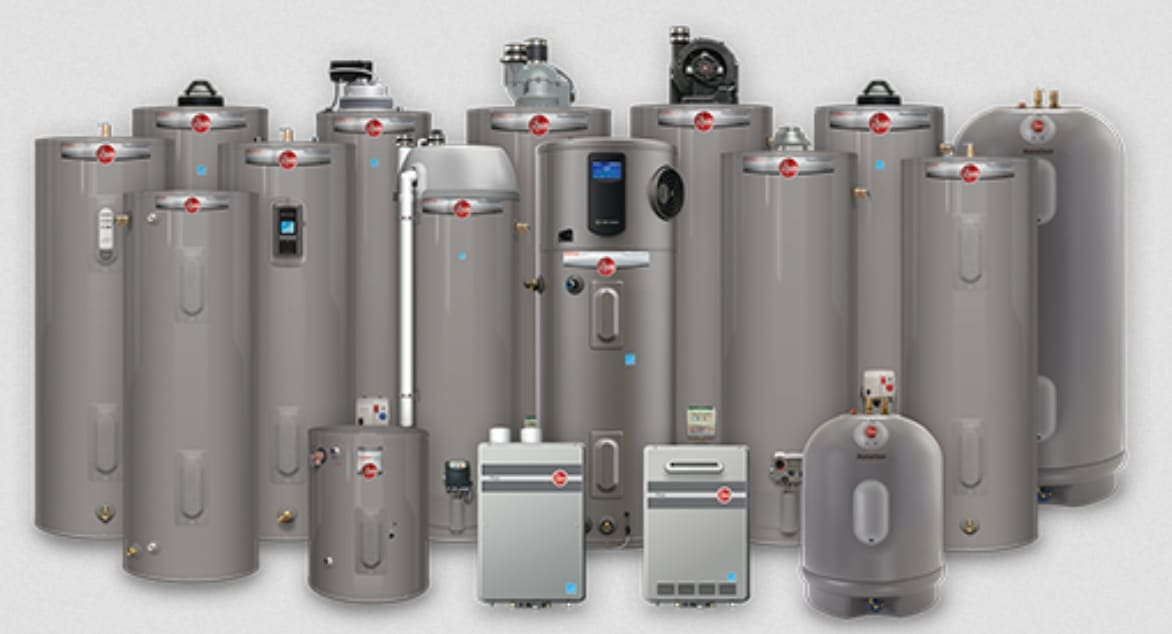 Rheem Water Heater Assortment