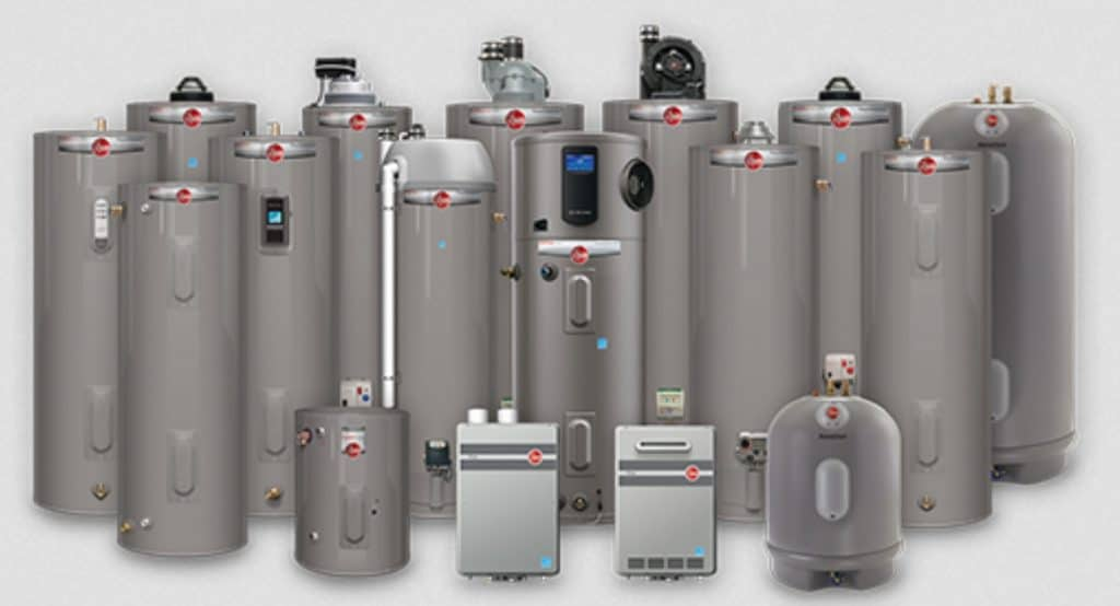 Rheem Water Heater Assortment